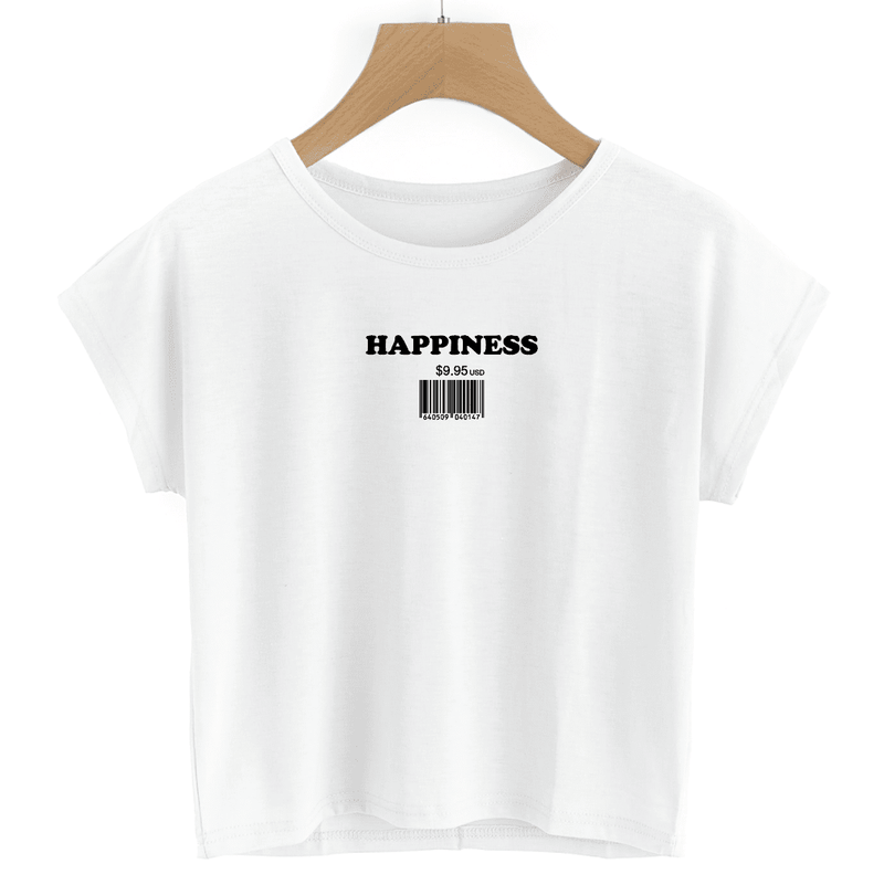 Happiness - Crop Tee