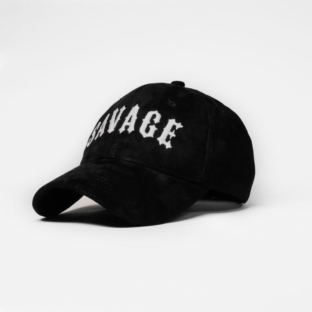 Suede Savage (Black) - SeasonCaps  - Dad Cap