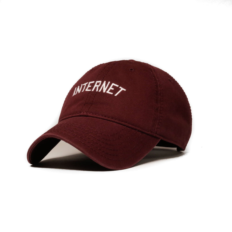 Internet (Maroon) Baseball Hat - SeasonCaps  - Dad Cap