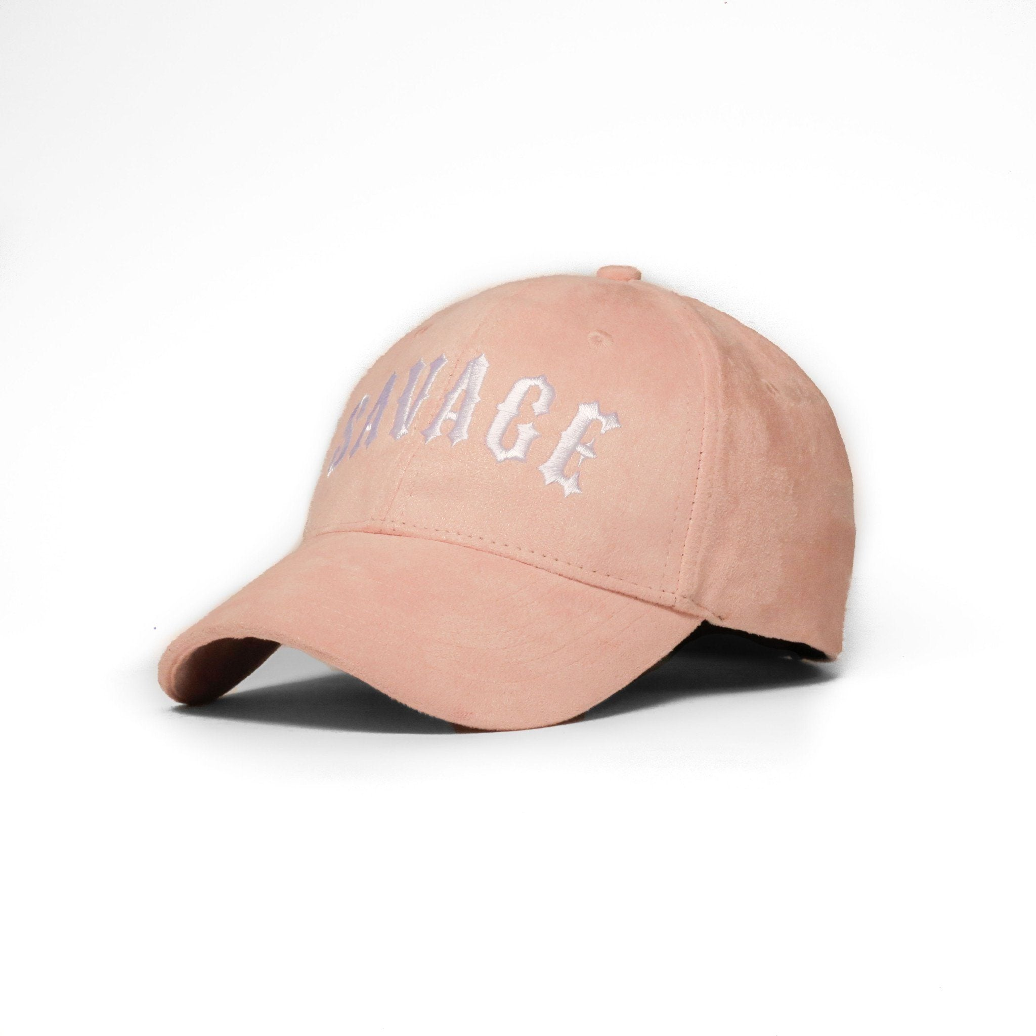 "Pink Suede ""Savage"" Cap - SeasonCaps  - Dad Cap"