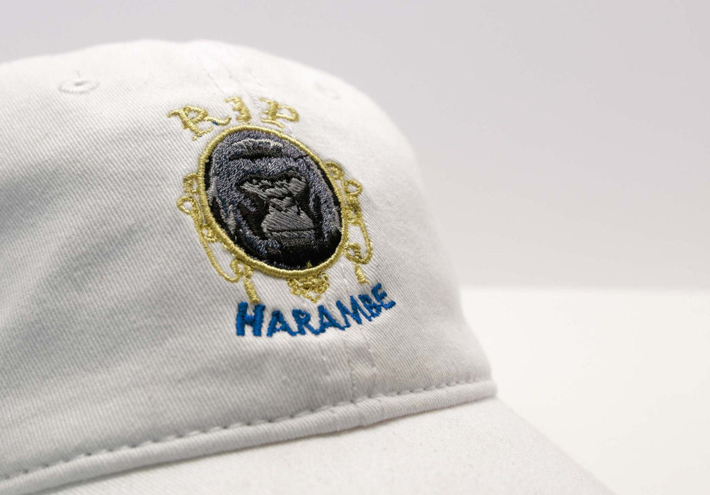 White Harambe Cap - SeasonCaps  - Dad Cap