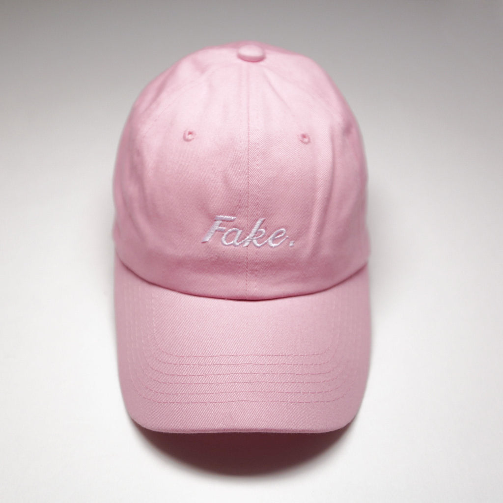"Pink ""Fake"" Cap - SeasonCaps  - Dad Cap"