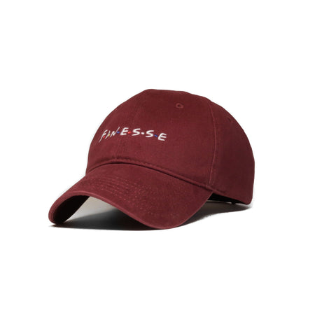 Finesse Baseball Cap (Maroon) - SeasonCaps  - Dad Cap