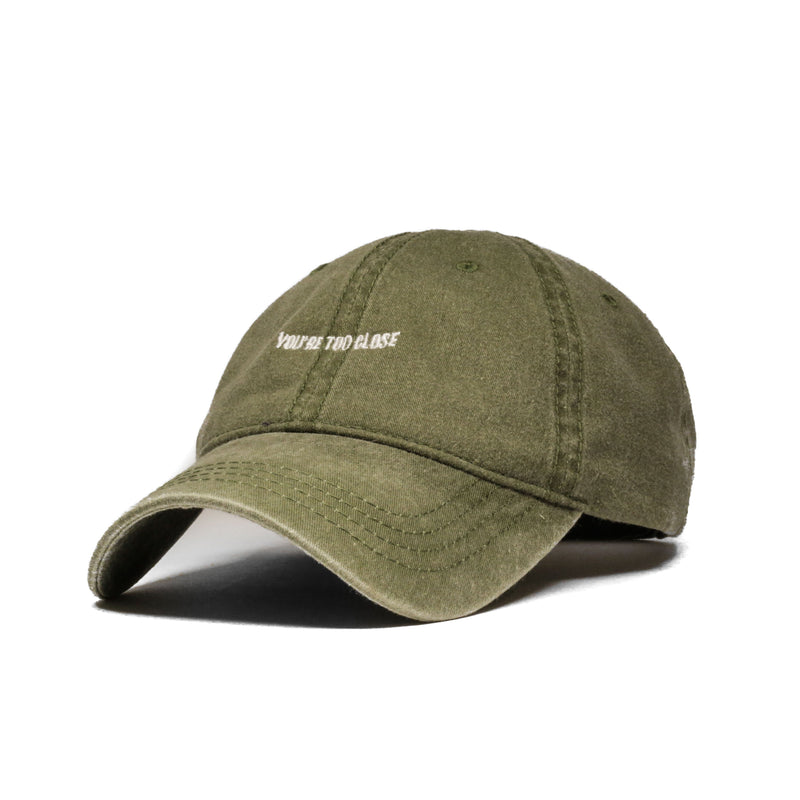 Faded Olive Too Close Cap (Unconstructed) - SeasonCaps  - Dad Cap