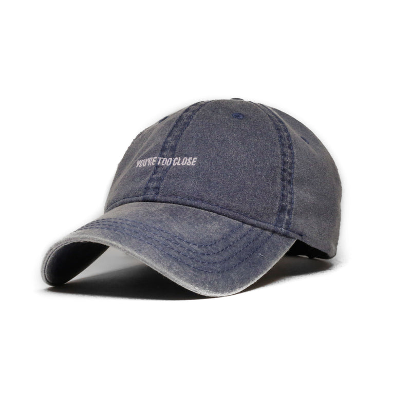Faded Navy - Too Close (Unconstructed) - SeasonCaps  - Dad Cap