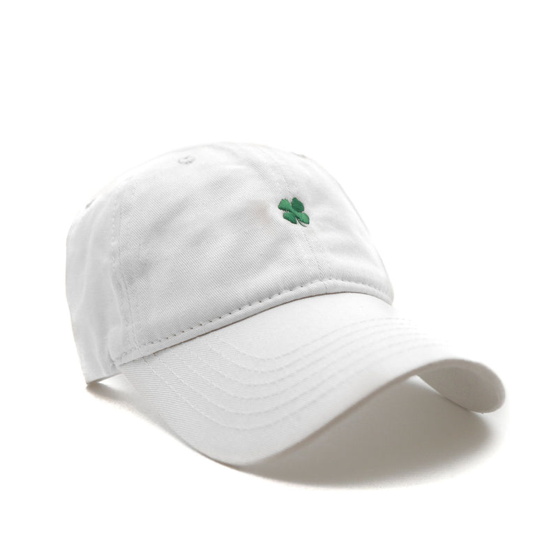 Lucky (White) - SeasonCaps  - Dad Cap