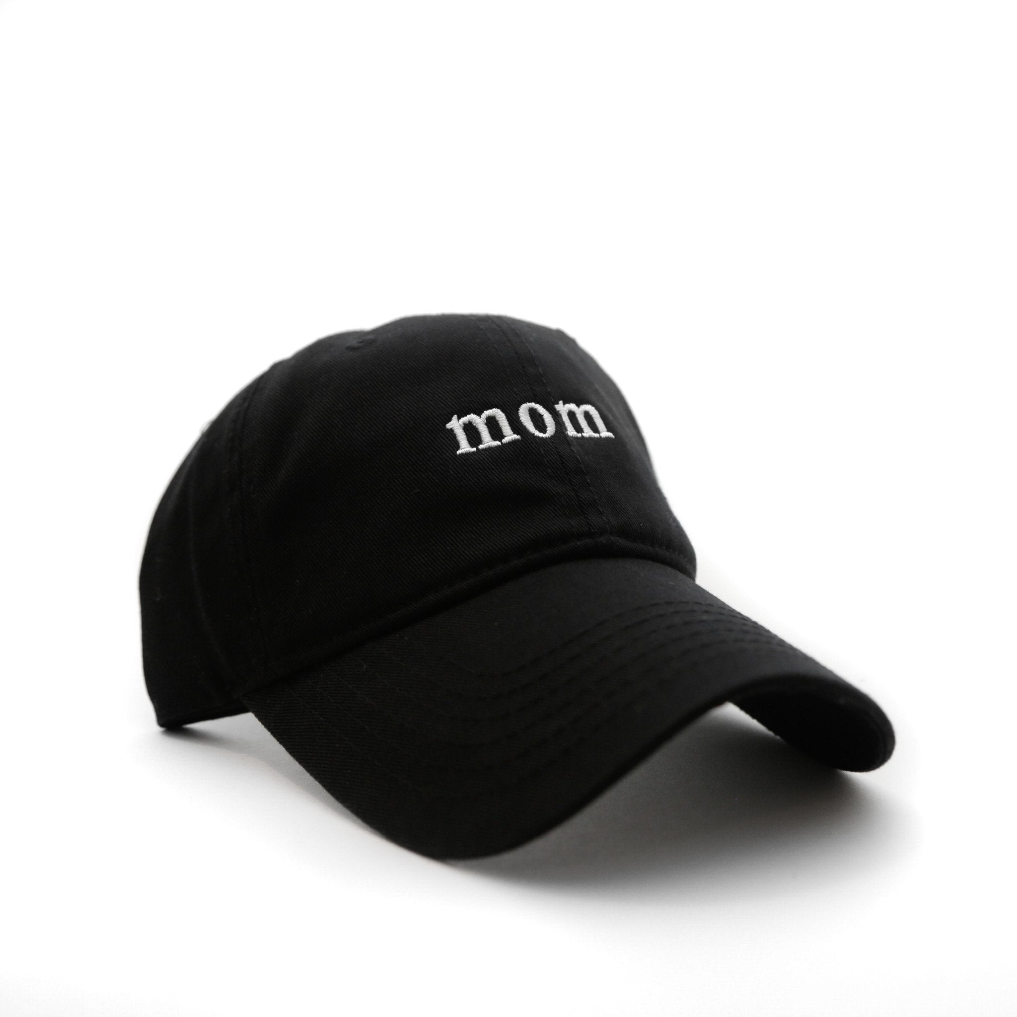 Mom Cap (Black) - SeasonCaps  - Dad Cap