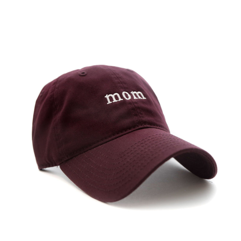 Mom Cap (Maroon) - SeasonCaps  - Dad Cap