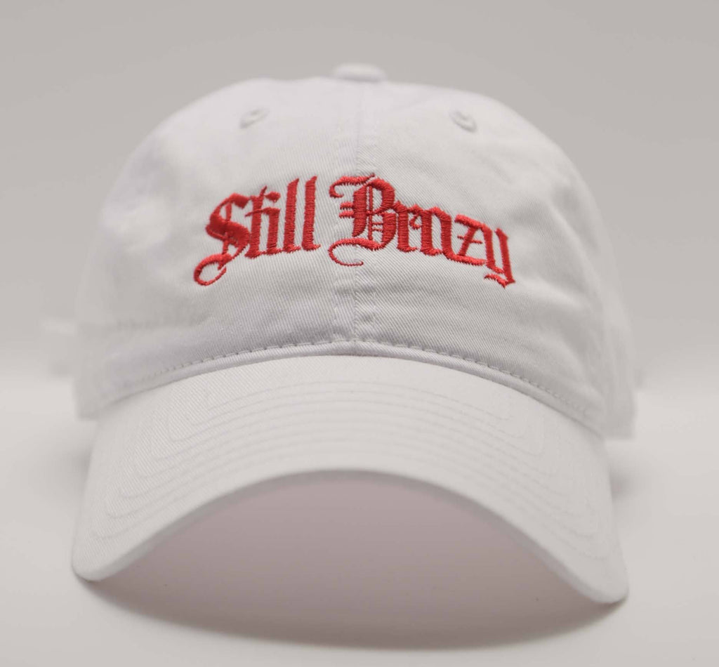 White Still Brazy Polo - SeasonCaps  - Dad Cap