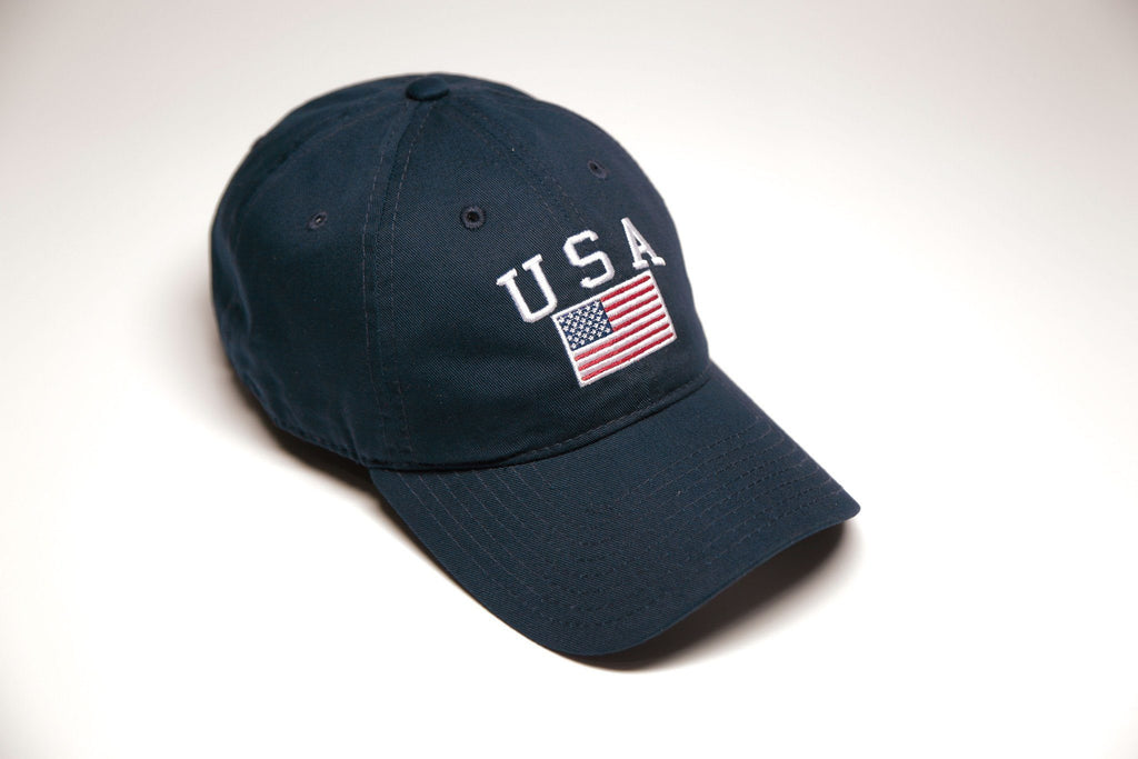 Navy Vintage USA Polo - SeasonCaps  - Dad Cap