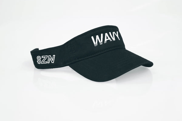 BLACK Wavy Visor - SeasonCaps  - Dad Cap