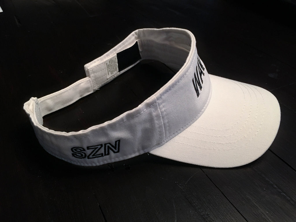 WHITE Wavy Visor - SeasonCaps Default type - Dad Cap
