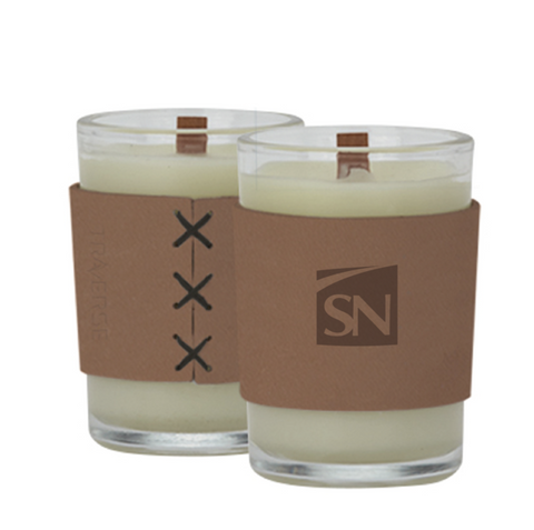 8oz. Candle with Leather Sleeve