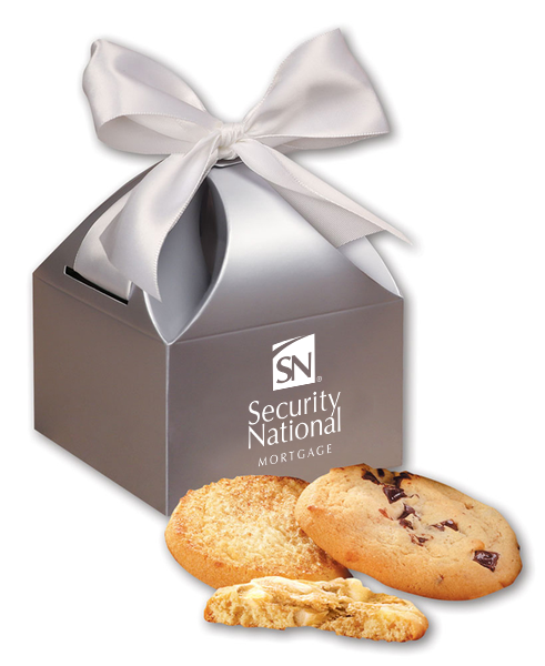 Fresh Baked Cookies in Silver Gift Box