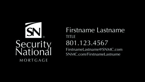 SecurityNational BUSINESS CARD  - BLACK DESIGN