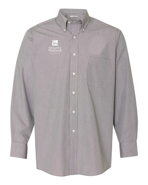 Van Heusen Yarn Dyed Mini Check Long Sleeve Shirt