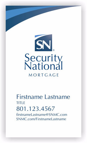 NEW EMPLOYEE SecurityNational BUSINESS CARD  - WHITE DESIGN