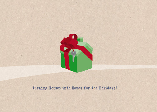Holiday Cards - Gift House Swoosh w/envelopes: as low as $0.89 per card