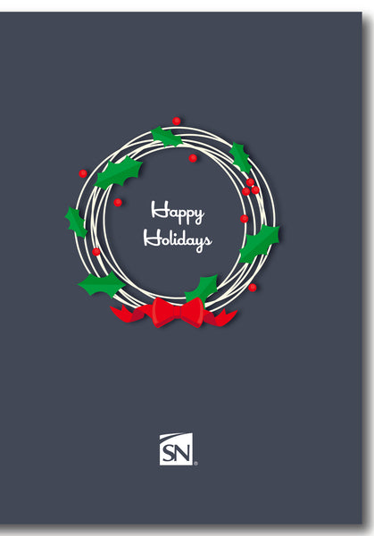 Holiday Card - Wreath w/Envelope