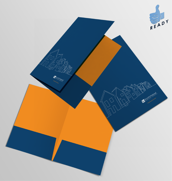 Presentation Folder: Navy and Orange
