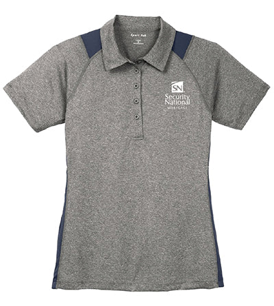 Ladies' Sport-Tek Heather Colorblock Contender Polo Shirt
