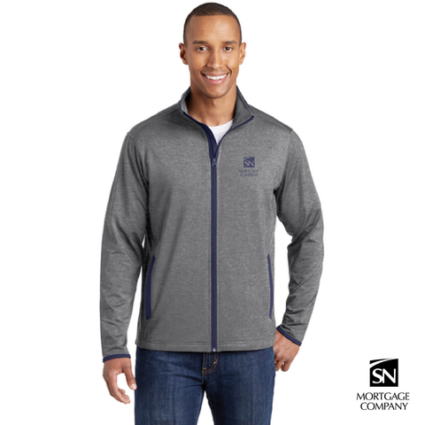 Adult Sport-Tek® Sport-Wick® Stretch Contrast Full Zip Jacket