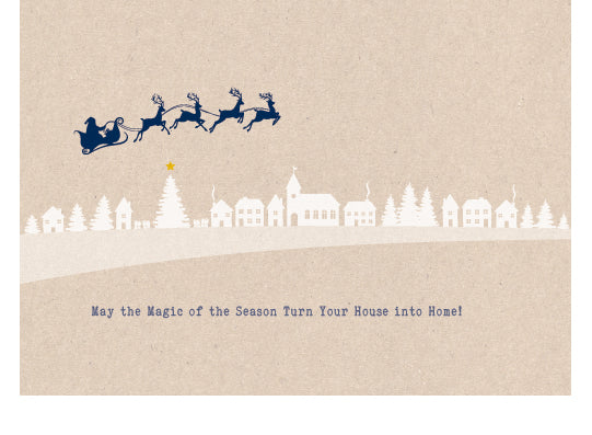 Holiday Cards - Santa Swoosh w/envelopes: as low as $0.89 per card