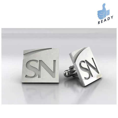 "5/8"" Square Die Struck Sterling Silver Cufflinks"