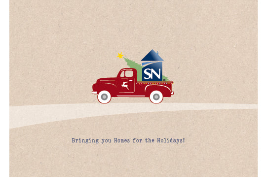 Holiday Cards - Truck Swoosh w/envelopes: as low as $0.89 per card