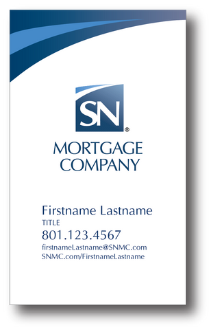 NEW EMPLOYEE SN Mortgage Company BUSINESS CARD  - WHITE DESIGN
