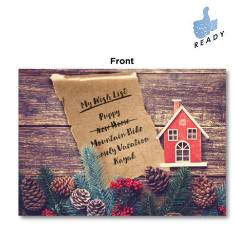 Holiday Card - Wish List Design w/envelopes