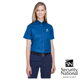 Core 365 Ladies' Optimum Short-Sleeve Twill Shirt
