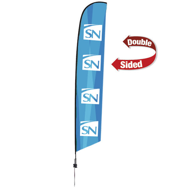 (14') Double Sided Feather Flag - Large
