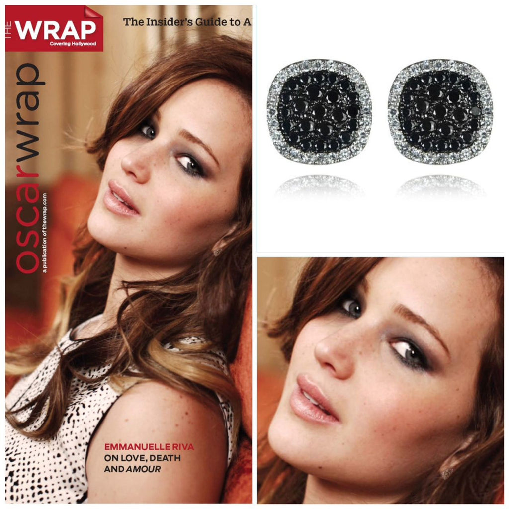 Jennifer Lawrence in Dot E3 Diamond Stud Earring
