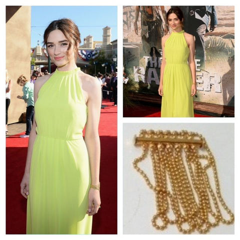 Crystal Reed in Picque Yellow Gold Bracelet