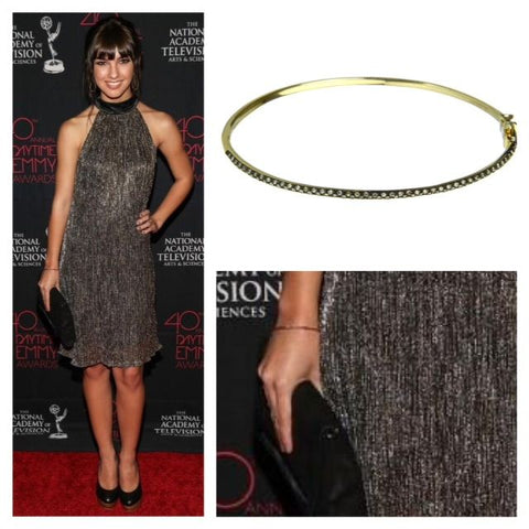 Denyse Tontz in Granger B1 Brown Diamond Bangle-compressed