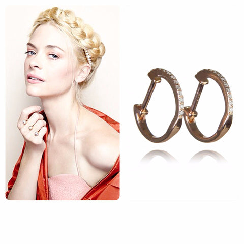 Jaime King In Huggie Diamond Earring