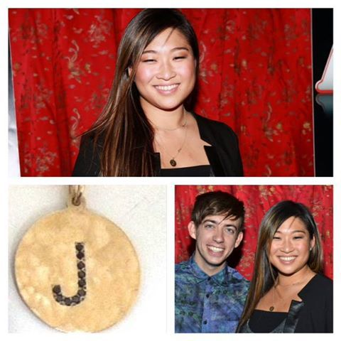 Jenna Ushkowitz in J Girl Black Diamond Necklace-compressed
