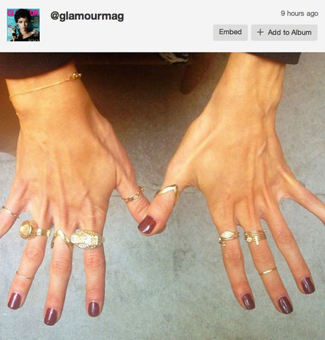 Katie Cassidy loves the ring too!