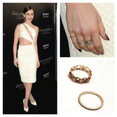 Lily Collins in Link Stackable