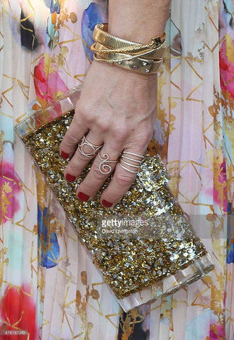 Rebecca Gayheart In Alisa R29 Alisa R21 Jenny R16 White Diamond Rings