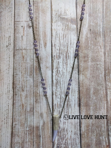 live love hunt™ antler necklace, lilac