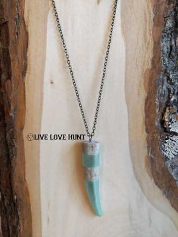 live love hunt™ antler necklace, mint