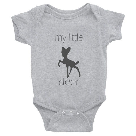 my little deer - grey text