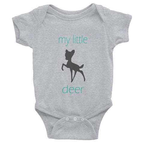 my little deer - turquoise text