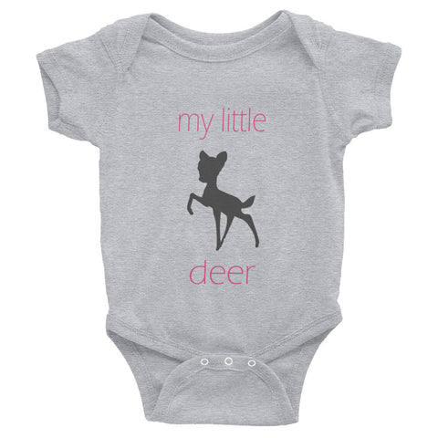 my little deer - pink text