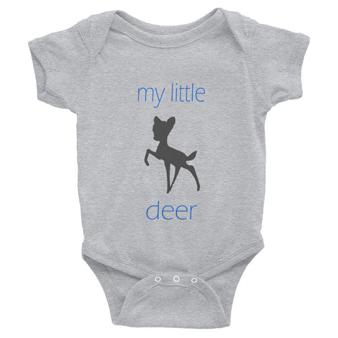 my little deer - blue text