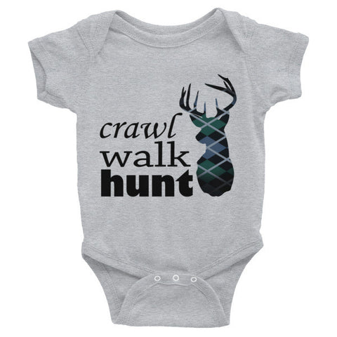 crawl walk hunt - blue & teal