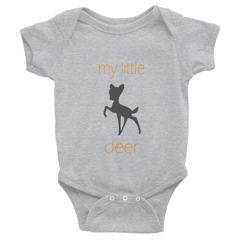 my little deer - orange text