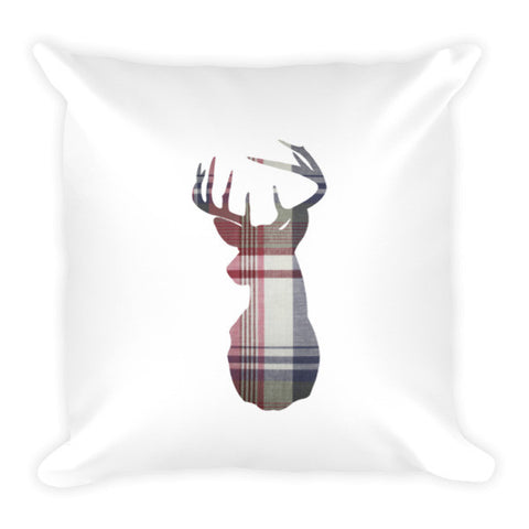flannel buck pillow - rustic print